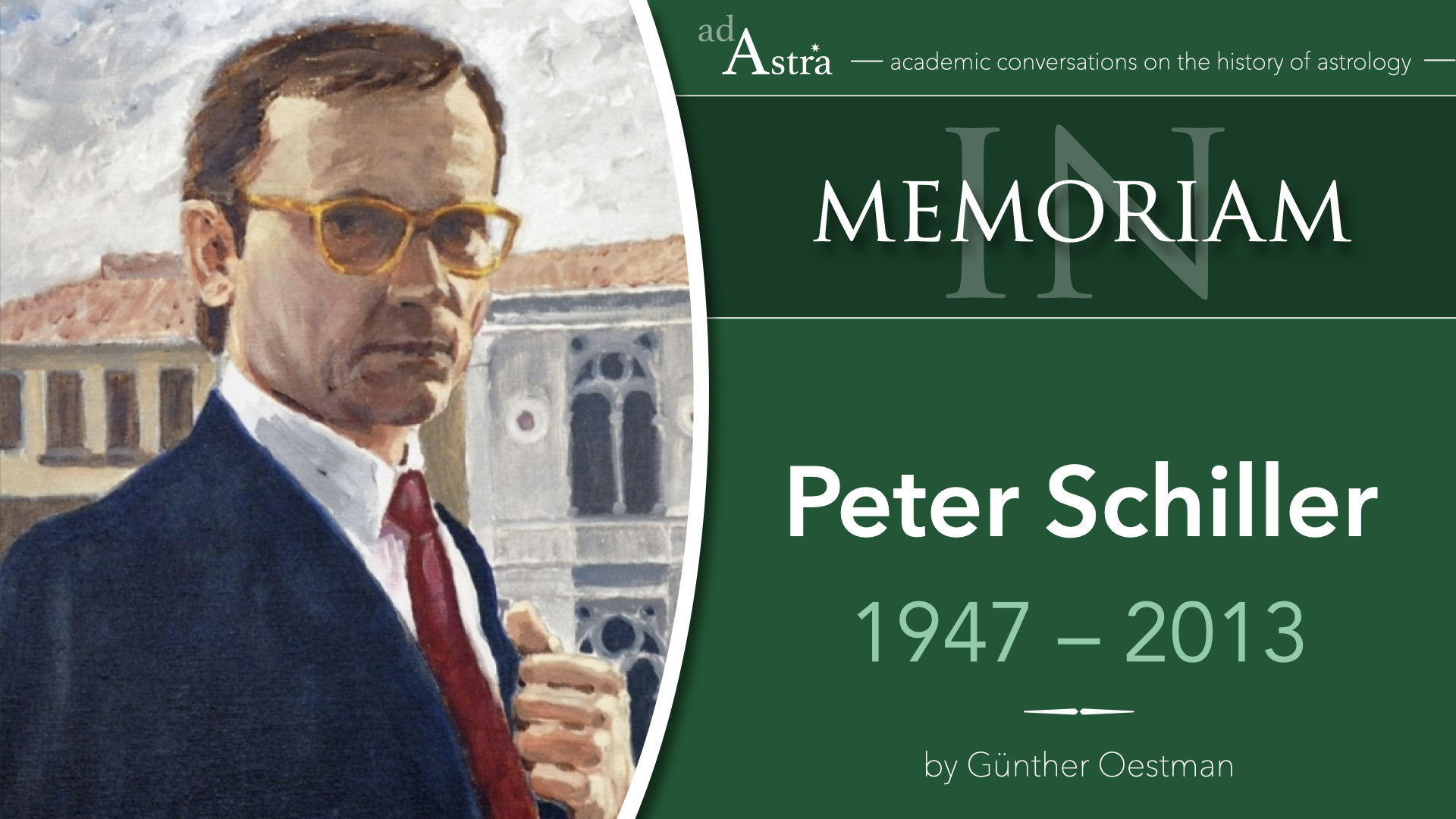 Peter Schiller (1947-2013): Astrology And Art