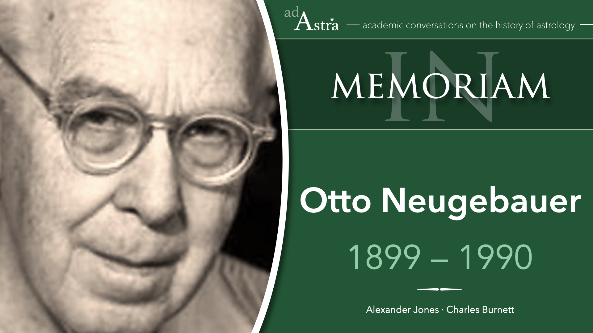 Otto Neugebauer (1899-1990): From Antiquity To The Renaissance